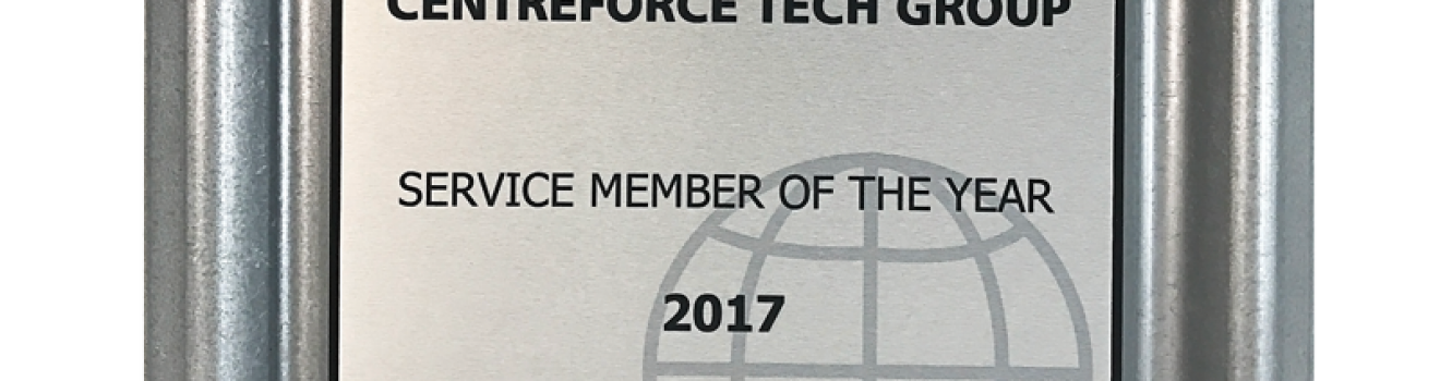 CENTREFORCE WINS 'SERVICE MEMBER OF THE YEAR' AGAIN